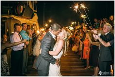 Wedding: Justin & Sarah // San Diego Yacht Club, San Diego, CA » Analisa Joy Photography // Grand Exit // Bride & Groom /// Sparklers Exit