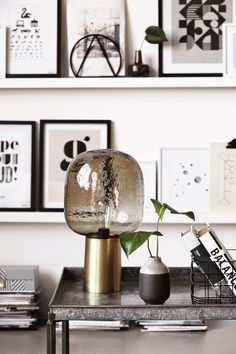 #modern #wall_shelves and #lamp