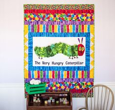 Andover The Very Hungry Caterpillar Fabric & My Fuzzy Friend Pattern Quilt Kit - multi