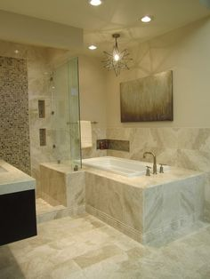 Bathroom Showrooms Queens queen beige marble bathroom | {my work commercial - tile shop