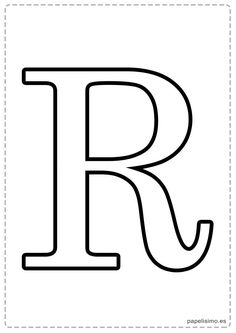 R Abecedario letras grandes imprimir mayúsculas