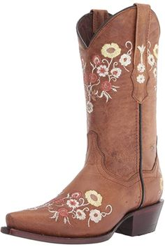 Amazon.com | Soto Boots Women's Jasmine Floral Square Toe Cowgirl Boots M50043 (Tan, 5.5 B(M) US) | Mid-Calf Blue Cowgirl Boots, Western Boots, Hiking Boots Women, Snow Boots Women, Best Womens Winter Boots, Best Rain Boots, Timberland Boots Women, Boots Store, Waterproof Winter Boots