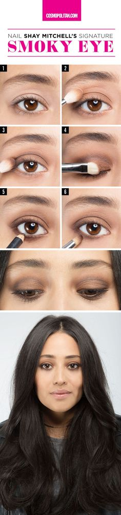 SHAY MITCHELL SMOKY EYE MAKEUP TUTORIAL: This sexy and pretty look is doable enough for anyone. Makeup artist Patrick Ta, who tends to Shay as well as Gigi Hadid and Kim Kardashian, shows you exactly how to nail the Pretty Little Liars star's signature eye look. Click through for the full beauty instructions so you can DIY this look on the reg.
