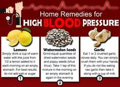 Home remedies for HTN