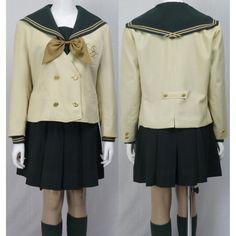 須賀川桐陽高校 緑 セーラー服 ジャケット スクール水着 制服 160429b_detail2
