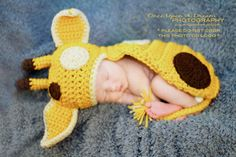 Lil' Giraffe Body Hat/Critter Cape. $35.00, via Etsy.