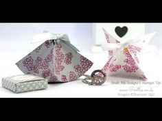 South Hill Designs & Stampin' Up! Sunday Fluted Box & Locket Tutorial - YouTube