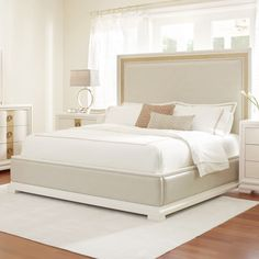 """Features:  -Fabric: 100% PU; clean code: W.  -Contemporary style.  -Floor and the slats: 5"""".  -Split king box spring compatible with panel bed.  Frame Material: -Manufactured wood.  Number of Items In"""