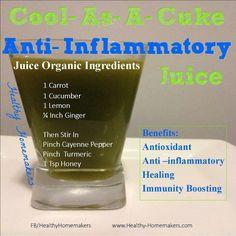Anti Inflammatory Juice #painrelief #clean #healthy