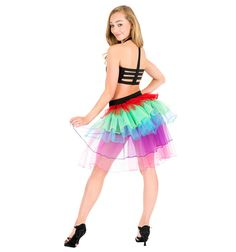 Adult Rainbow Bustle Tutu - Style Number: N7131  Discount Dance