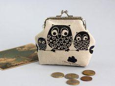 Coin Purse Owls  Owl coin purse Girlfriend Gift coin purse