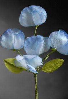 Blue Sweet Peas Millinery Flowers $5.99 each / 3 for $5 each