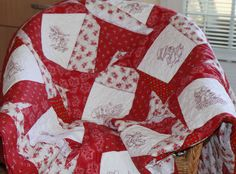 redwork Quilts, Blanket, Handmade, Scrappy Quilts, Comforters, Blankets, Hand Made, Patch Quilt, Kilts