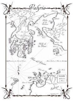 mapa de valyria y las tierras del largo verano juego de tronos