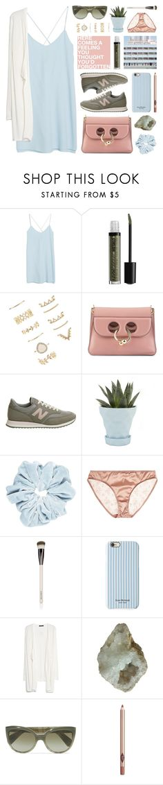 """sporty chic: sneakers & dresses"" by jesuisunlapin ❤ liked on Polyvore featuring MANGO, NYX, Forever 21, J.W. Anderson, Muller Van Severen, New Balance, Chive, Eres, Chantecaille and Isaac Mizrahi"