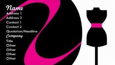 Modern Hot Pink and Black Dress Form Fashion Design Business Cards http://www.zazzle.com/fashion_design_business_cards-240993842428164696?rf=238835258815790439&tc=GBCSewing1Pin