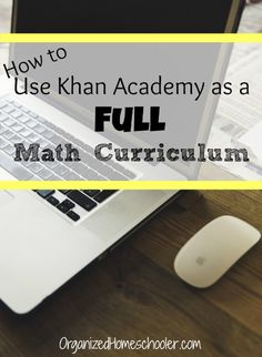 How to use Khan Academy as a free homeschool math curriculum. Khan Academy is great for homeschool students.