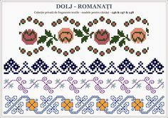 Semne Cusute: traditional Romanian motifs - OLTENIA: Dolj-Romana... Blackwork Embroidery, Embroidery Sampler, Folk Embroidery, Embroidery Patterns, Cross Stitch Geometric, Cross Stitch Patterns, Hama Beads, Beading Patterns, Pixel Art