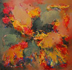 """""""La mirada dispersa"""" - Heriberto Zorrilla - Técnica Mixta - 90 x 90 cm www.esencialismo.com"""