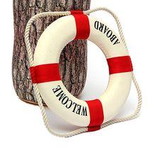 Quarto Decoração Anel de Vida Bóia Salva-vidas Barco Náutico Lifebuoy Parede Pendurado Decoração de Casa Vermelho 14 cm BS(China (Mainland))