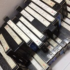 I have a stash of VHS tapes that looks EXACTLY like this.