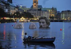 "Oliver Voss's Riesen-Nixe or Badenixe (""Grand Mermaid"" or ""Bathing Beauty""), Alster Lake, Hamburg, Germany, 2011"