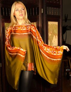 Butterfly Sleeve Top Made from upcycled sari by whosesarinow
