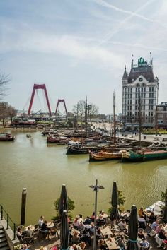 Oude Haven Rotterdam van Jasper Scheffers Most Beautiful Cities, Wonderful Places, Foto Paris, Rotterdam Netherlands, Paradise On Earth, Antwerp, The Locals, Perfect Place, Amsterdam