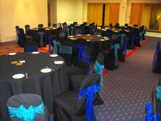 Chair Covers Morecambe Childrens Bean Bag Chairs Uk 57 Best Blue Bows Images Bow Back Alternating Turquoise And Royal Organza On Black