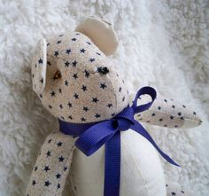 Charles the Little Teddy Bear by ellemardesigns on Etsy, $10.00