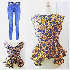 Vêtements tissu africain Ankara mode Ankara africain Blouse