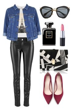 """""""glam rock"""" by yourselffashion ❤ liked on Polyvore featuring River Island, Topshop, Miu Miu and Zara"""