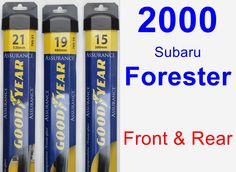 Front & Rear Wiper Blade Pack for 2000 Subaru Forester - Assurance