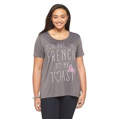 Plus Size French Toast Gray Tee