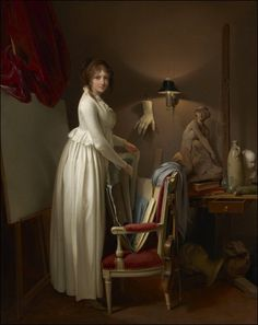 The Artist's Wife in His Studio (c.1795-1800). Louis-Léopold Boilly (French, 1761-1845). Oil on canvas. The Clark Art Institute.