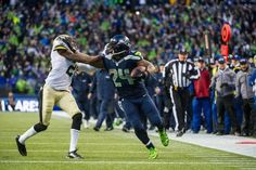 Marshawn Lynch's TD run during the Seahawks Divisional win vs the NO Saints.