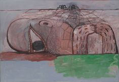 """Philip Guston. Web. 1975. Oil on canvas. 67"""" x 8' 1 1/4"""" (170.2 x 247 cm). Gift of Edward R. Broida. 723.2005. © 2018 The Estate of Philip Guston. Painting and Sculpture"""