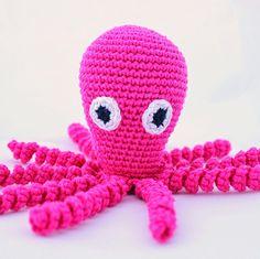 Inktvisjes haken | draadenpapier | Gratis patroon van Kleine inktvisjes #haken #inktvis #crochet #squid