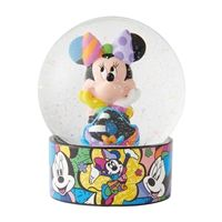 Bring on the smiles when you display this Minnie Mouse water globe. Features a colorful Romero Britto pop art design with stone resin base and iridescent glitter. Animated Halloween Props, Halloween Masks, Halloween Decorations, Britto Disney, Annabelle Doll, Sweet Magic, Trick Or Treat Studios, Disney Rooms, Disney Traditions