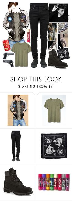 """No Title #150"" by emily102901 ❤ liked on Polyvore featuring 21 Men, Banana Republic, County Of Milan, Affliction, Timberland, men's fashion and menswear"