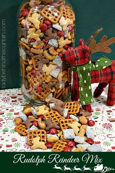 Rudolph Reindeer Mix - Lady Behind The Curtain (Reindeer Chex Mix)