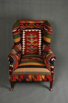 hand woven patchwork chair