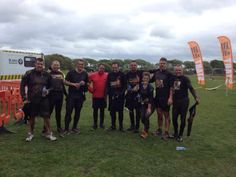 EEC covered in mud at the finish line!