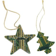 Recycled pc parts Xmas decorations by amie Diy Pc, Pc Parts, Fireclay Tile, Reduce Reuse Recycle, Geek Out, Xmas Decorations, Christmas Ornaments, Christmas Ideas, Coasters