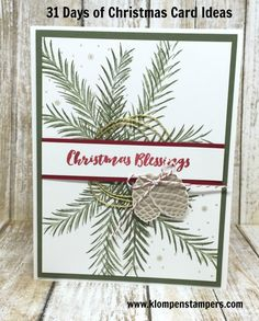 Klompen Stampers (Stampin' Up! Demonstrator Jackie Bolhuis): 31 Days of Christmas Cards - Day #27