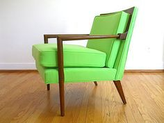 Mid Century vintage chair and walnut wood