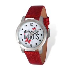 Disney Adult Size Dreaming in Dots Red Band Watch