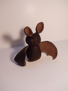Felt little brown bat stuffed plush toy by SouthernGothica on Etsy, $30.00
