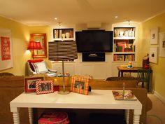 Cheerful, bright, basement space..