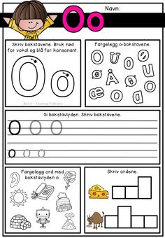 Phonics, Teaching Kids, Norway, Activities For Kids, Language, Writing, Learning, Tips, Barn
